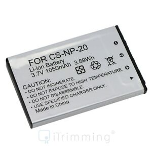 Battery NP-20 NP20 for Casio Exilim Camera EX-Z60 EX-Z70 EX-Z75 EX-Z77 S770 S880