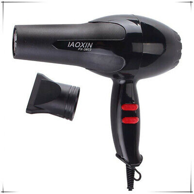Professional Hair Dryer 1600W Hair Blow Dryer Blower Salon Black Hot & Cold W d