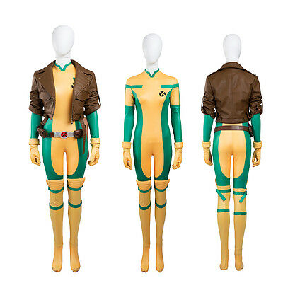 HOT Movie X-Men Rogue Cosplay Costume High Quality Jacket+Jumpsuit Any - Rogue Xmen Jacket