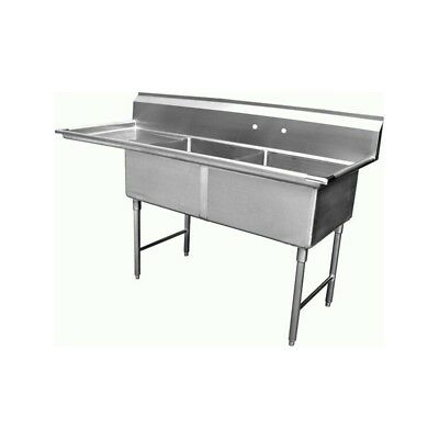 2 Compartment Sink With 1 Left 18 Drain Board Nsf