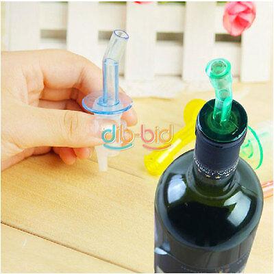 4x Bottle Pourer Pour Spout Stopper Dispenser Liquor Flow Olive Wine Oil Set