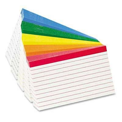 Oxford Color Coded Ruled Index Cards 3 X 5 Assorted Colors 10 078787047532