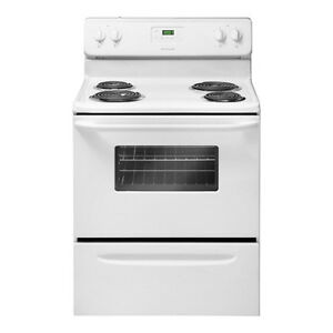 Frigidaire 4.8. Cu. Ft. Coil Top Range purchased < 2 years ago