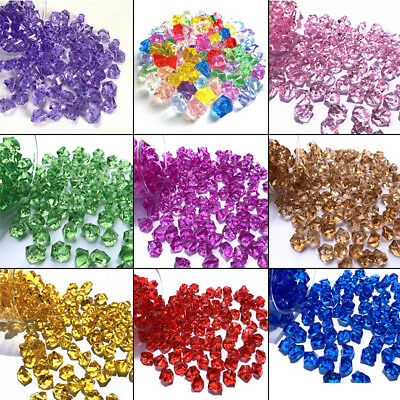 150x Acrylic Crystal Gem Stone ICE Rocks Table Scatter Vase Decor Party Club Hot - Club Decorations
