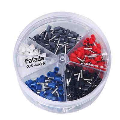 400 Aderendhülsen in Streudose isoliert Spender - Hülsen Set  0,5 - 2,5 mm²