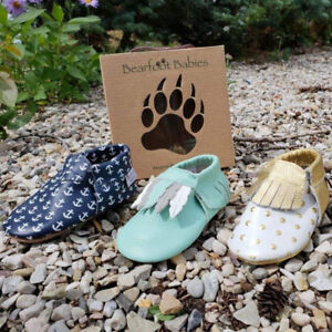 Infant and toddler soft sole shoes