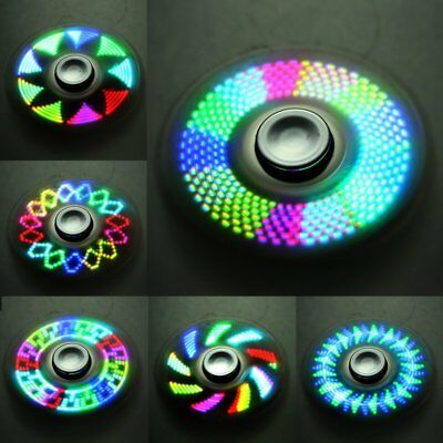 Funny LED Light Fidget Hand Spinner Toy EDC Spin Stress Relief Focus Desk Gyro