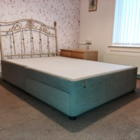 Grey Double Bed Base