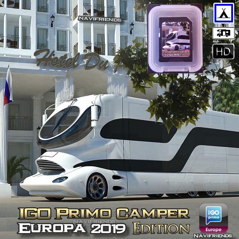 IGO Primo Camper Navigation SD Karte neue November 2018 Maps Premium Paket ✔