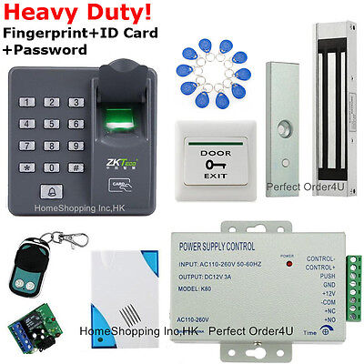 Fingerprint+RFID Card+Password Security Door Access Control System+Magnetic Lock
