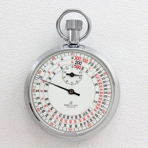 NOS Breitling Ref. 1511 Chronograph 4-Tachometer Speed Measuring Pocket Timer