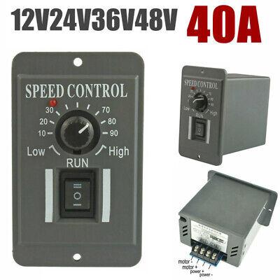 Dc 12v 24v 36v 48v 40a Pwm Motor Speed Controller Reversible Switch Regulator