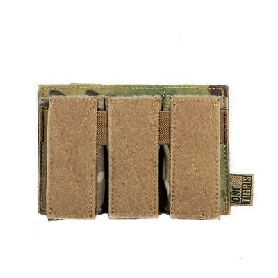OneTigris Tactical Molle Top Open Triple Pistol Magazine Pouch Hunting Mag Bag Open Magazine Pouch