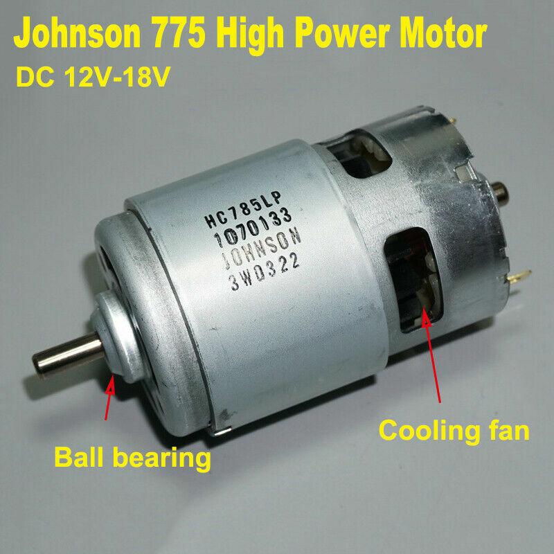 JOHNSON RS-775 Electric Drill Motor DC 12V-18V High Speed Large Torque 5mm Shaft