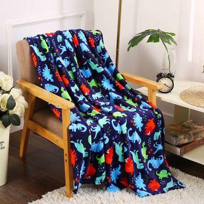 Ultra Soft & Plush Oversized Dinosaurs Throw Fleece Blanket - Multi Color