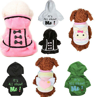 Pet Dog  Puppy Sweater Hoodie Coat For Small Pet Dog Warm Costume Apparel New L - Costume For Puppy