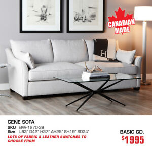 All Custom Canadian Made Living Furniture now 20% OFF!