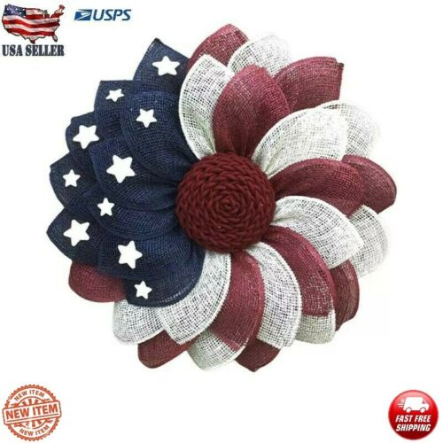 4th Of July Patriotic USA Wreath American Flags Wreath Independence Day FREE