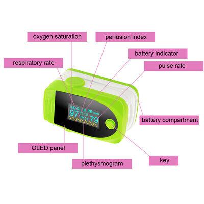 Cefda Finger Pulse Oximeter Blood Oxygen Spo2 Oxygen Saturation Heart Monitor