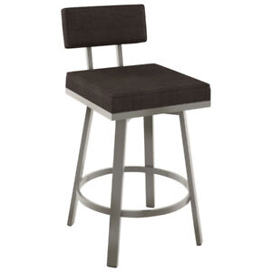 Staten Contemporary Counter Height Bar Stool - Titanium New in B