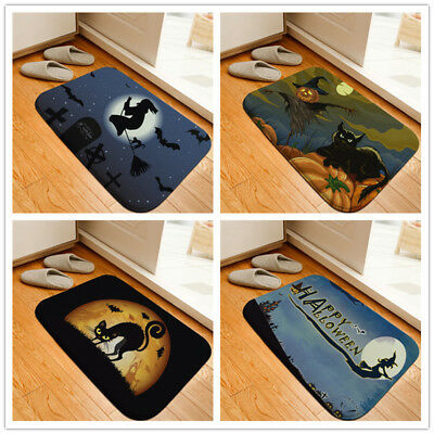 Halloween Pumpkin Printed Floor Mats Anti-slip Rugs Cartoon Carpets Front Doorma - Halloween Floor