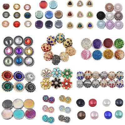 Magnetic Round Hijab Pin Headscarf Abaya Women Clasp Brooch Shawl Scarf  Pin