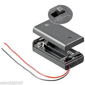 Batteriehalter, Akkuhalter für 2x Mignon AA; Gehäuse + Schalter [Batteriefach]