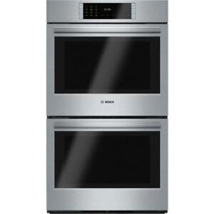 Bosch 800 Series HBL8651UC 30 Stainless Steel Double Wall Oven And Self Clean Both Oven