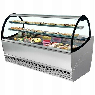 Isa Millennium 164 Pastry Display Case With Ventilated Refrigeration In Crate
