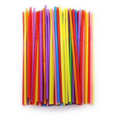 100pcs Plastic Colorful Straw For Birthday Party Wedding Flexible PP Plastic](100 Birthday)