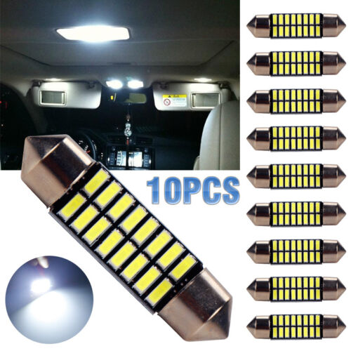 Package:10pcs 36mm:31/36/39/41mm 4014 16SMD LED Festoon Dome Reading Light License Plate Lamp White