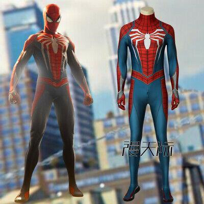 Spiderman Jumpsuit Overall Helm Cosplay Kostüm Halloween COS (Halloween 4 Overall)