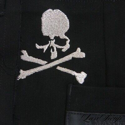 LNWOT Mastermind World Japan Black Shred Edge Microfiber Skull Pants Trousers L