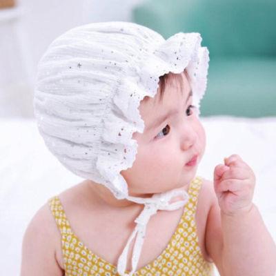 Newborn Infant Christening Bonnet Beach Bucket Hat Baby Girl Sun Summer Cap Lace - Christening Hat