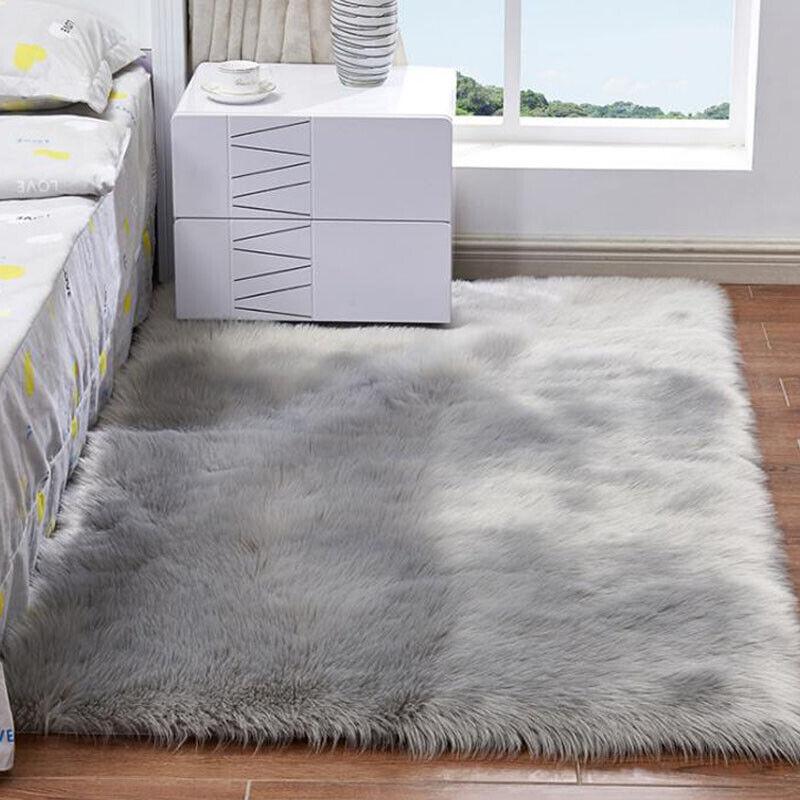 Fluffy Rugs Living Room Floor
