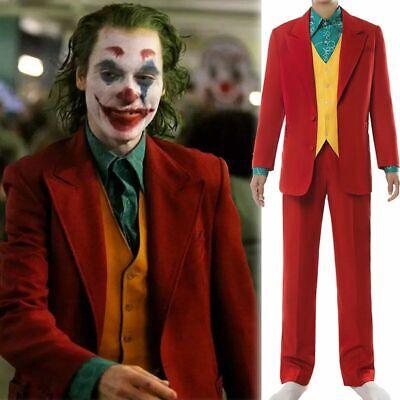 2019 Joker Joaquin Phoenix Arthur Fleck Halloween Cosplay Costume