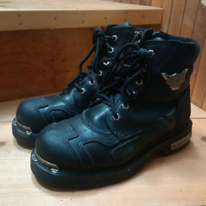 HARLEY DAVIDSON MENS LEATHER MOTORCYCLE BOOTS SIZE 8.5