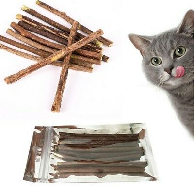 Natural Silvervine Cat Matatabi Chew Stick Catnip Teeth Molar Clean Pet Toy US