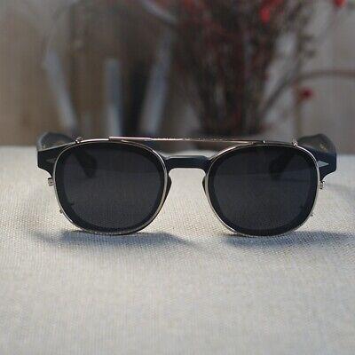 Johnny Depp glasses mens matte black eyeglasses clip on polairzed (Johnny Sunglasses)