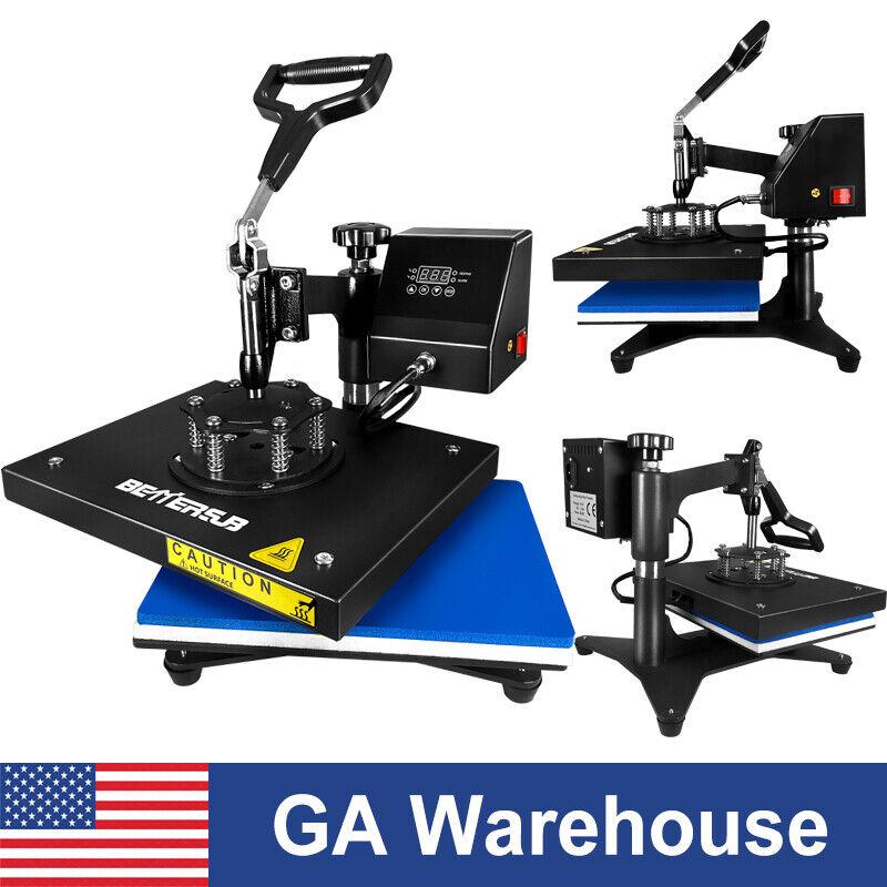 "360° Swing Away Digital Heat Press Sublimation Machine Digital Transfer 12""x9in"""