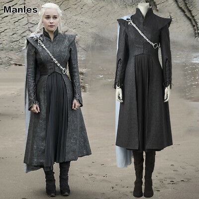 Daenerys Halloween Costume (In Stock Game of Thrones 7 Cosplay Daenerys Targaryen Costume Halloween)
