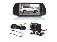 "Car Rear Reverse Wireless Kit IR Nightvision HD Camera & 7"" TFT LED Monitor"