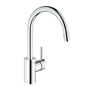 Grohe 32665001 Concetto Dual Spray Pull Down Kitchen Faucet Chro