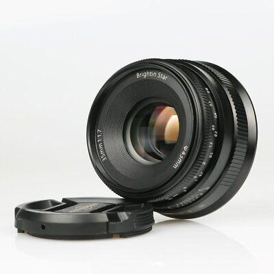 BrightinStar 35mm f1.7 Lens Large Aperture Manual Lens Black For Sony E-mount A7
