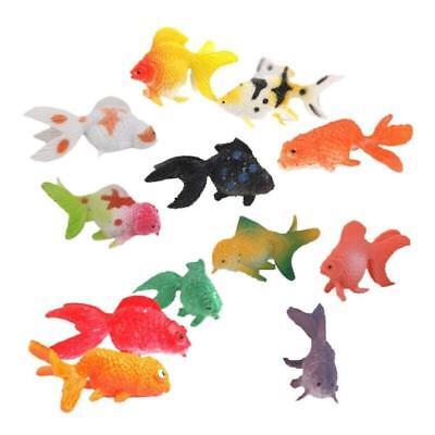 12pcs Plastic Simulation Small Goldfish Mini Educational Gold Fish - Small Goldfish