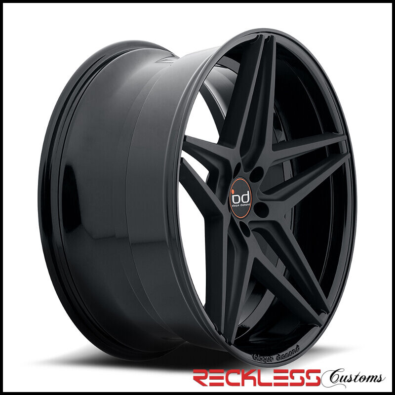 "22"" Blaque Diamond Bd8 Concave Wheels Rims Black Fits Ford Explorer"