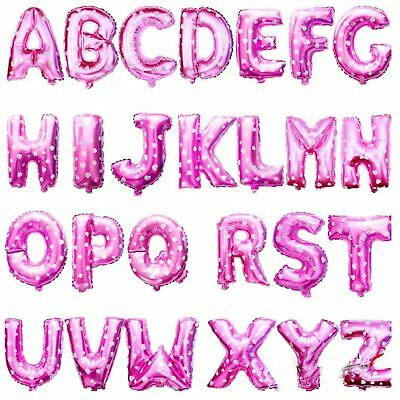 Pink Foil AIR Balloons Baloons Letters Numbers Birthday Banner Party Decoration