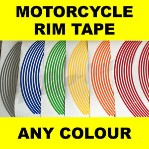 ★★★ ANY COLOUR ★★★ Motorcycle Wheel / Rim Tape Stripes Stickers