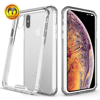For iPhone XS Max XR X Case Clear Transparent Bumper Cover Shockproof Protective