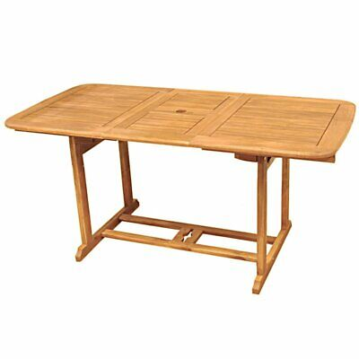 Acacia Wood Patio Dining Table in Brown